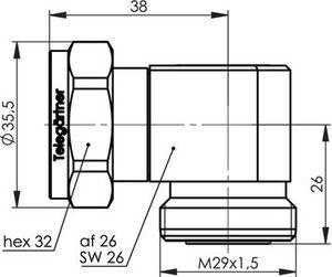 Внутрисерийный ВЧ адаптер J01023C0004
