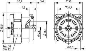 Разъем панельный J01120E0043