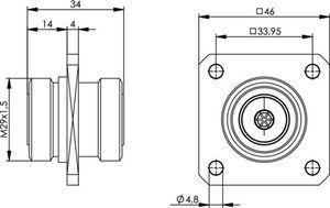 Внутрисерийный ВЧ адаптер J01023A0002