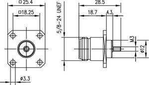 Разъем панельный J01021B0008