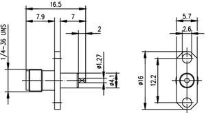 Разъем панельный J01151A0721