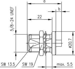 Разъем для полужёстких кабелей J01021A0151