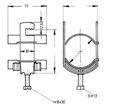 Устройство крепления фидера HCH-38-1R