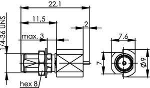 Разъем панельный J01151A0451