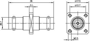 Внутрисерийный ВЧ адаптер J01005A1232