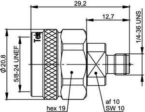 Междусерийный ВЧ адаптер J01027R0001