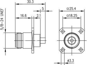 Разъем для полужёстких кабелей J01021A0164