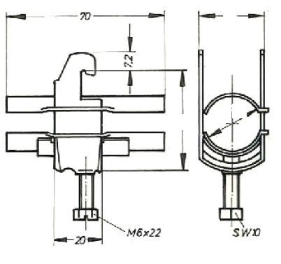 Устройство крепления фидера HCH-38-1C