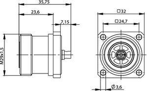 Разъем для фидерных кабелей J01121B0180