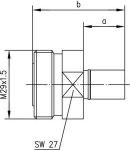 Разъем для полужёстких кабелей J01121A0134