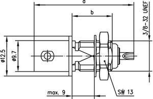 Разъем панельный J01001A0615