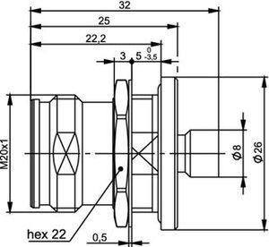 Разъем для полужёстких кабелей J01441A0005