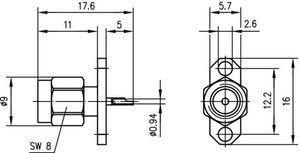 Разъем панельный J01150A0161
