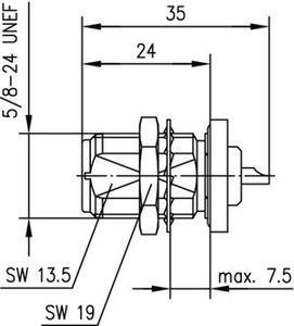 Разъем панельный J01021A1084
