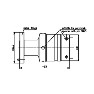 Разъем фланцевый EIA BN 715587
