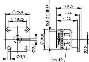 Разъем для фидерных кабелей J01020B0044