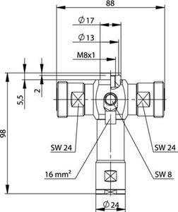 Грозоразрядник с четвертьволновым отрезком J01125A0040
