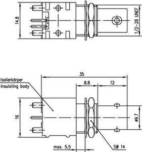 Разъем для печатных плат J01001F0002