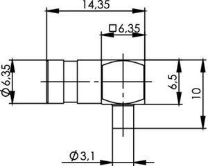 Разъем для полужёстких кабелей J01161A0841
