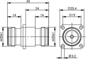 Внутрисерийный ВЧ адаптер J01442A0003