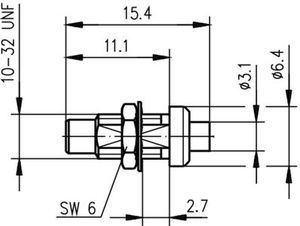 Разъем для полужёстких кабелей J01170A0161