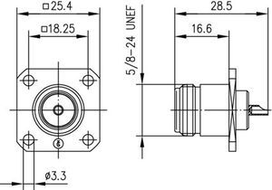 Разъем панельный J01021H1082