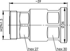 Разъем для фидерных кабелей J01121A0160