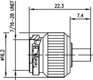 Разъем для полужёстких кабелей J01010A0021