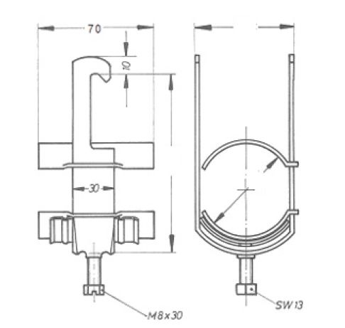 Устройство крепления фидера HCH-58-1L4