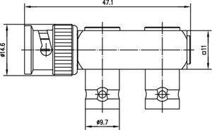Внутрисерийный ВЧ адаптер J01005A0003