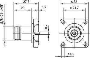 Разъем панельный J01021H1059