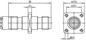 Внутрисерийный ВЧ адаптер J01014A0004