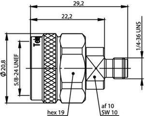 Междусерийный ВЧ адаптер J01027T0018