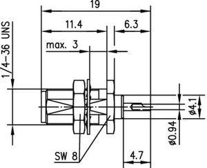 Разъем панельный J01151A0891