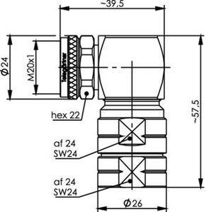 Разъем для фидерных кабелей J01440A3013