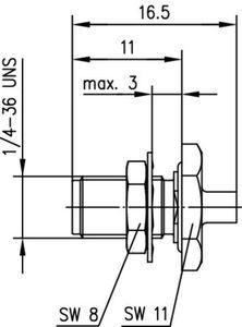 Разъем для полужёстких кабелей J01151A0061