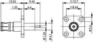 Разъем панельный J01421A0025