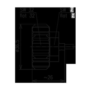 Разъем для полужёстких кабелей BN 807625