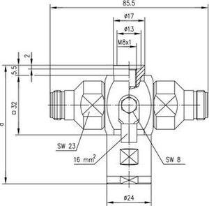 Грозоразрядник с четвертьволновым отрезком J01028A0019