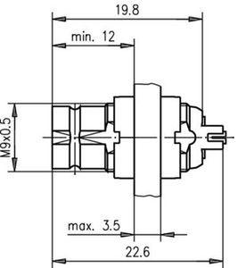 Разъем панельный J01073A1703
