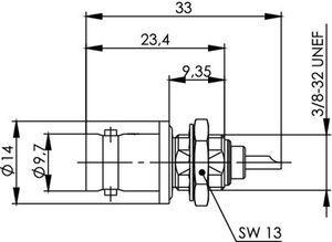 Разъем панельный J01001A0614