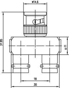 Внутрисерийный ВЧ адаптер J01004A0009