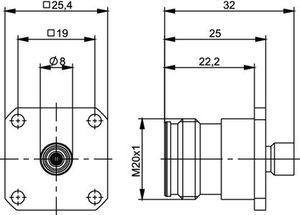 Разъем для полужёстких кабелей J01441A0006