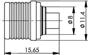 Разъем для полужёстких кабелей J01420A0075