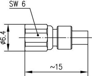 Разъем для полужёстких кабелей J01171A0041