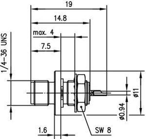 Разъем панельный J01151A1081