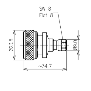 Междусерийный ВЧ адаптер BN 432020