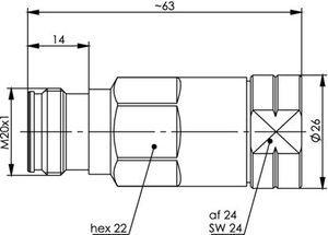 Разъем для фидерных кабелей J01441A0010.