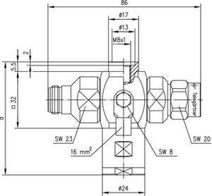 Грозоразрядник с четвертьволновым отрезком J01028A0008