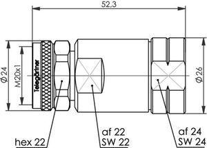 Разъем для фидерных кабелей J01440A0005.